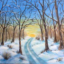 Winter Morning 14x11 canvas panal