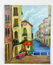 Italy in the spring 16x20 stretched canvas