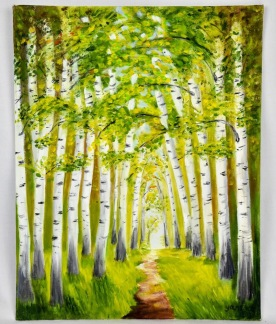 Summer Forest 11x14 canvas panel