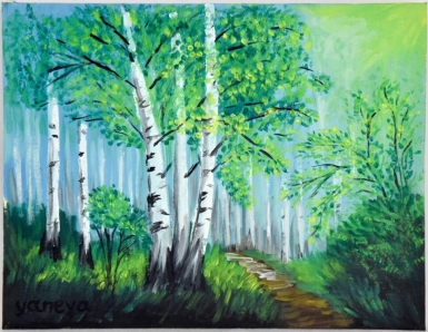 Spring in Moscow 10x8 canvas panel