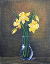Yellow Daffodils 11x14 canvas panel