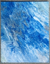 Abstract acrylic painting 16x20 starched canvas.