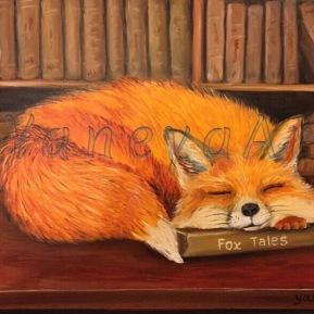 """Fox Tales - commission (oil on 10x8"""")"""