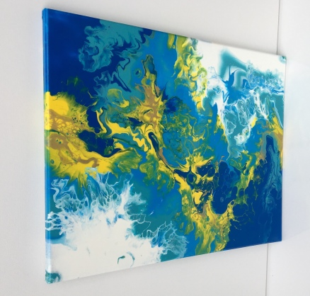 """The Blue and Yellow Nebular - $95 (16x20"""")"""