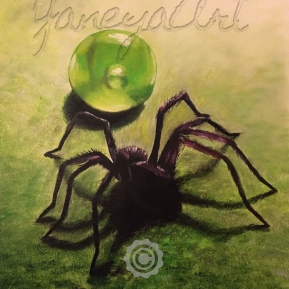 """Spider - sold (oil on 11x14"""")"""