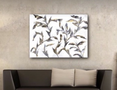 "Gold and Silver Leaves - $840 (40x30"")"