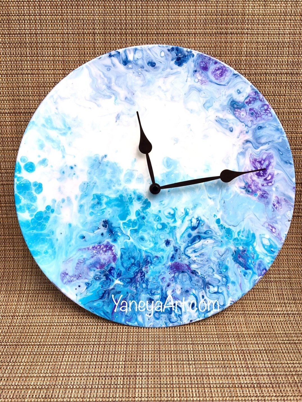 "Coral reef - 12"" vinyl record clock"