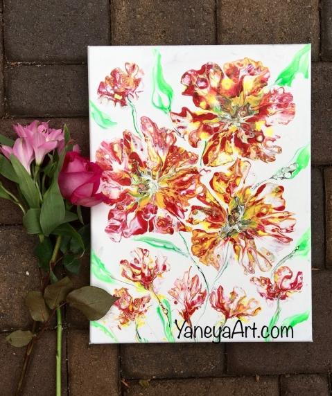 """Red Magnolia - $65 (12x16"""")"""