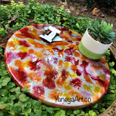"12"" Autumn Lazy Susan – $75"