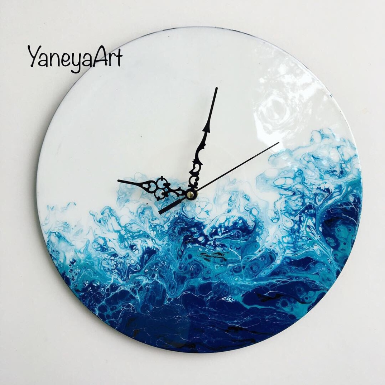 "Stormy Ocean - 12"" vinyl record clock"