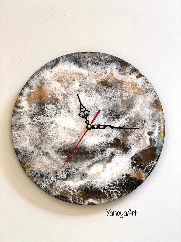 "Copper granite - 12"" resin and acrylic on vinyl record"